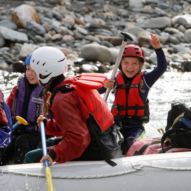 Rafting en famille sur le Rhin antérieur