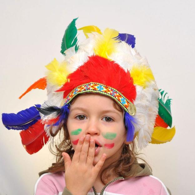 Randonnée à cheval d'Indiens pour enfant