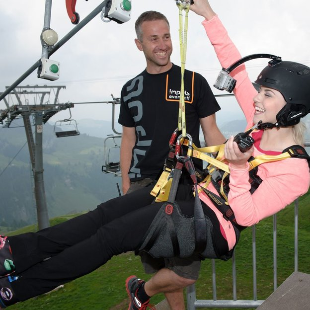 Flying Fox im Hoch Ybrig