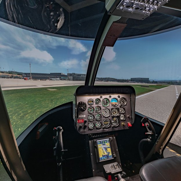 Helikopter Bell 407 Simulator fliegen in Zürich (für 1-3 Personen)