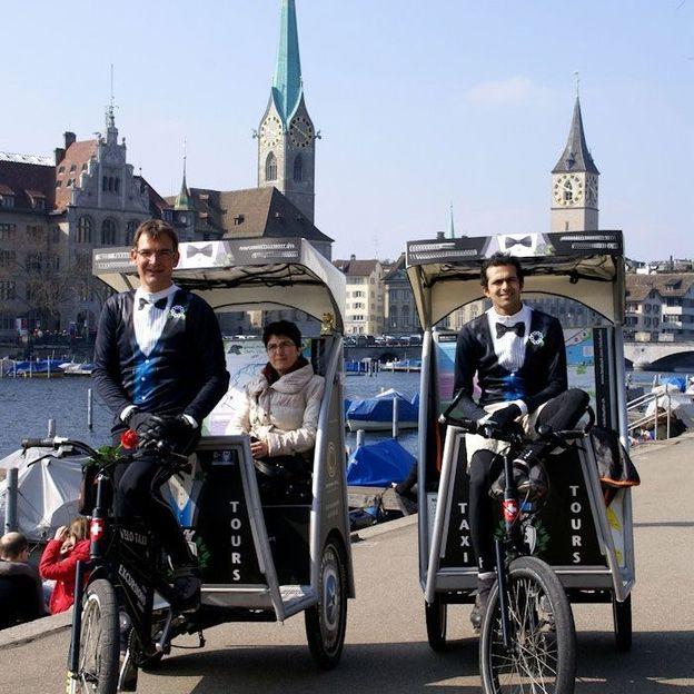 Rikscha Stadt- und Seeufertour 60 Minuten