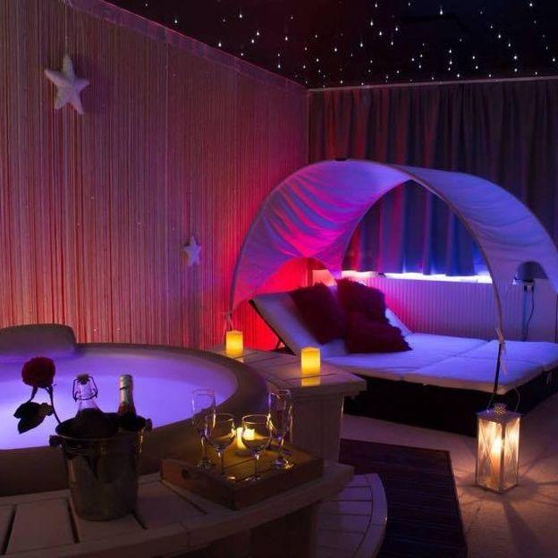 Apéritif dînatoire romantique dans un spa (version luxe)