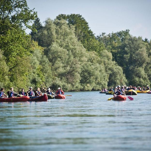 Kanutour auf Rhein, Thur oder Reuss