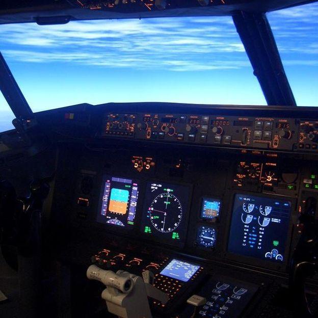 Flugsimulator im Airbus A320 Cockpit (90 Minuten)