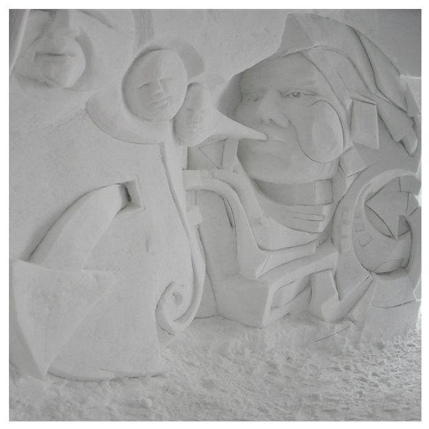 Schneeskulpturen Bau Schnupperstunde