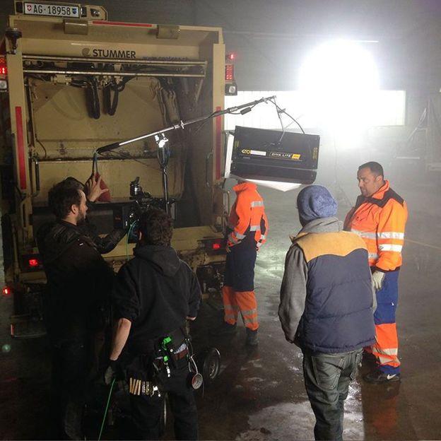 Erlebnistag als Müllmann auf dem Kehrichtfahrzeug