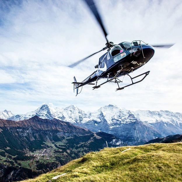 Helikopterflug: Eigernordwand (13-15 Minuten)
