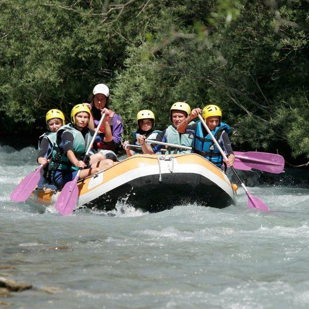 Rafting sur le Rhône entre la Souste et Sierre