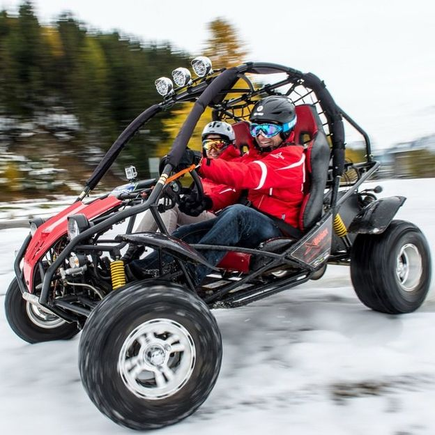CrossBuggy / Quad fahren auf Schnee und Eis