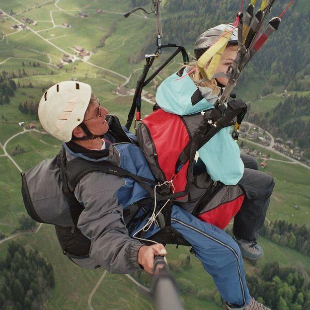 Gleitschirm Tandemflug in der Region Marbach