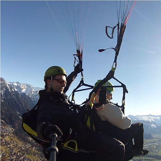 Gleitschirmflug in Liechtenstein und der Ostschweiz