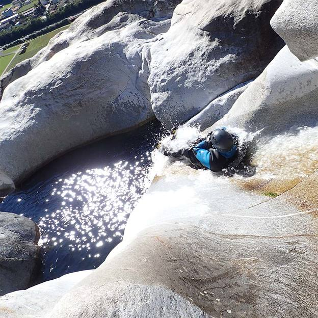 Canyoning in den Alpen
