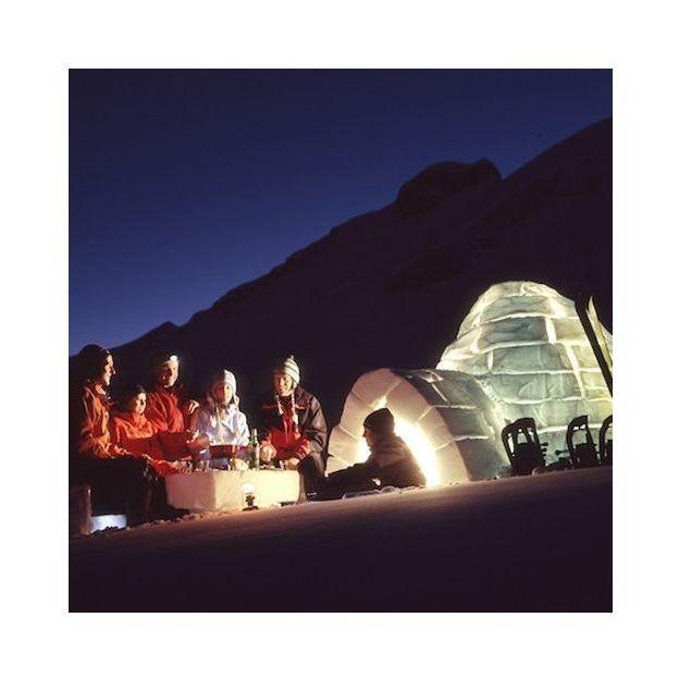 Construction d'un igloo avec fondue à Adelboden