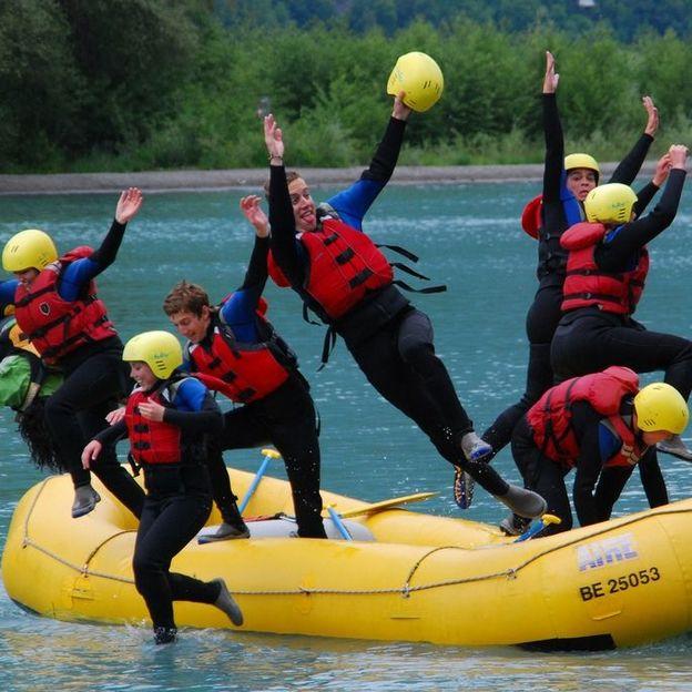 Firmen: River Rafting auf der Lütschine oder Aare