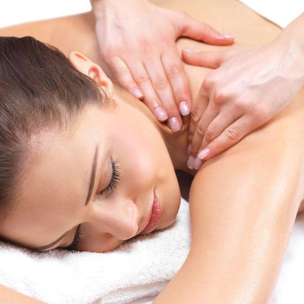 Firmen: Mobile Massage auf dem Massagestuhl