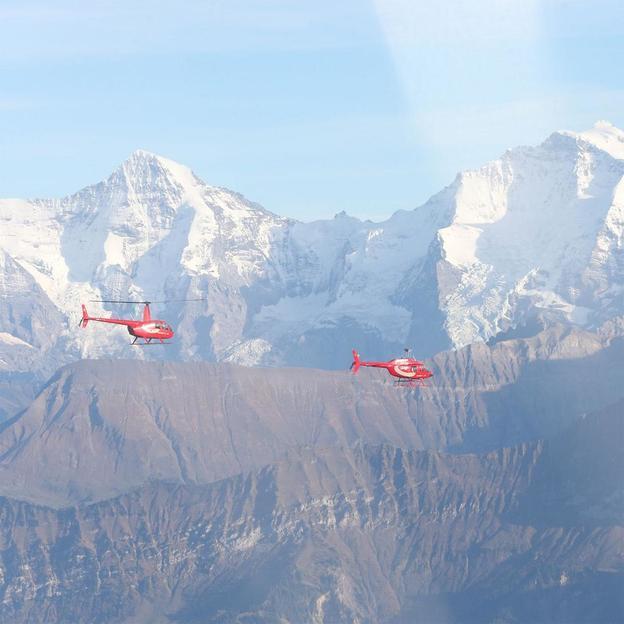 Firmen: Voralpenhelikopterflug der magischen Drei