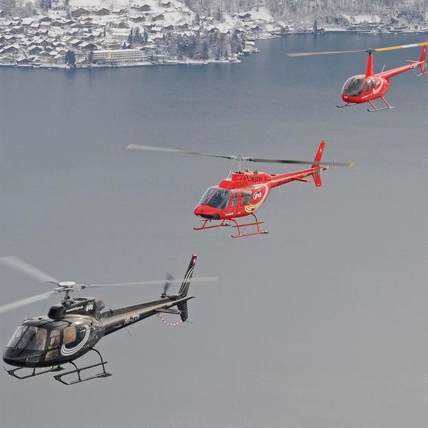 Voralpenhelikopterflug der magischen Drei (für 1 Person)