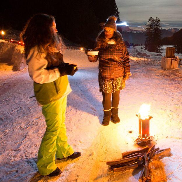 Firmen: Schneeschuhtour mit Fondueplausch