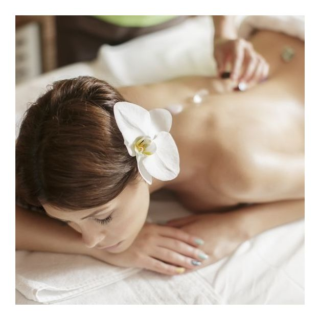 Séance de lithothérapie et massage relaxant