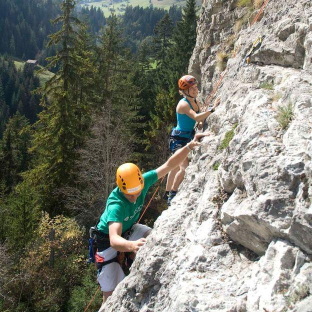 Escalade outdoor en famille près de Berne