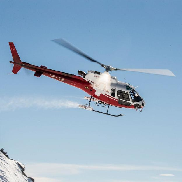 VIP-Flug 360° Engadiner Bergwelt Corvatsch 3'303 M.ü.M.