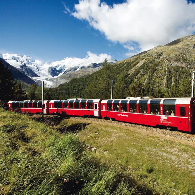 Bernina - mal oben, mal unten erleben