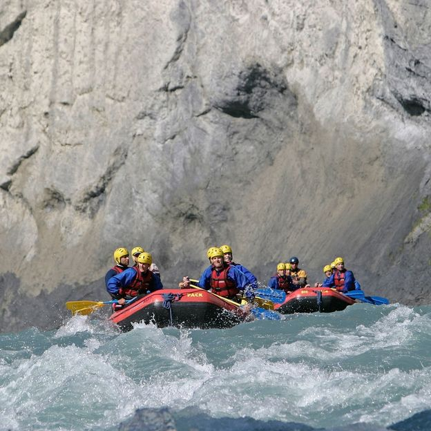 Halbtagesfahrt Rafting auf dem Vorderrhein (Jugendliche)