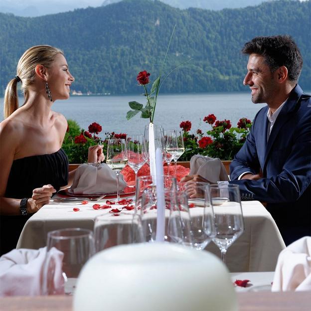 Romantisches Dinner mit Champagner am Vierwaldstättersee
