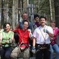 Firmen: Kombinierbares Klettern im Seilpark