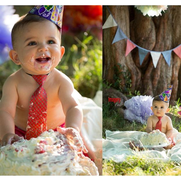 Baby Fotoshooting mit Kuchen