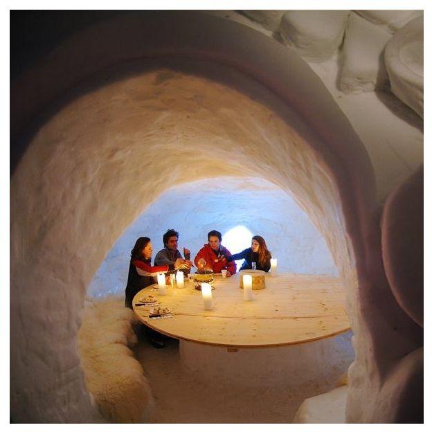 Saut à l'élastique et Fondue dans un igloo