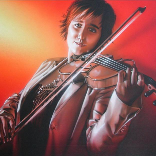 Persönliches Airbrush-Portrait vom Europameister
