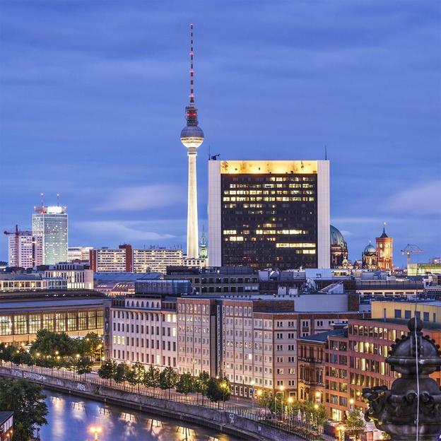 Berlin von oben mit House-Running