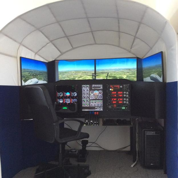 Piloten-Training im Flugsimulator in Zürich