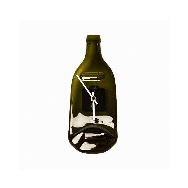 Deine Glasflasche als Wanduhr