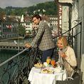 Nuitée et repas gastronomique près du pont de Lucerne