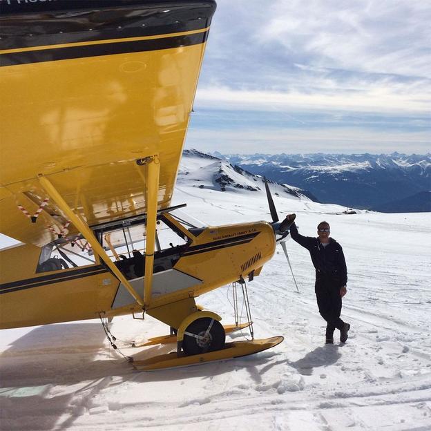Gletscherflug mit einem Flächenflugzeug