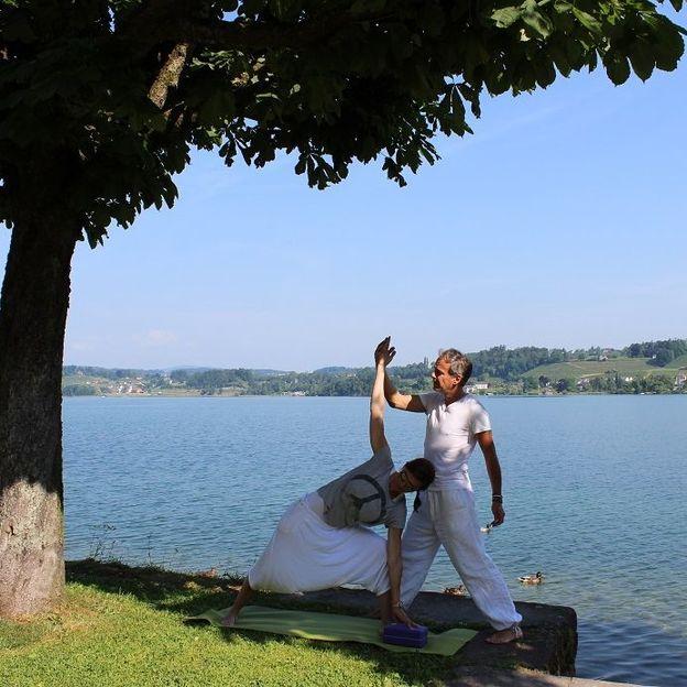 Individuelle Yogastunde zum Stressabbau