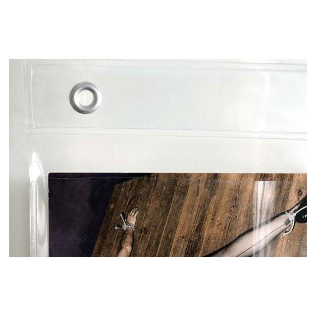 Foto Duschvorhang transparent mit Taschen