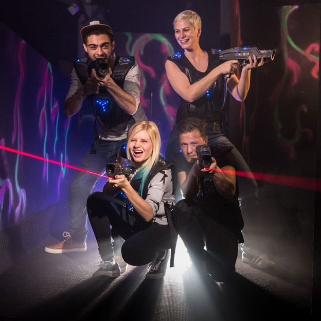 Lasertag spielen in Basel 3 Runden (Erwachsene)