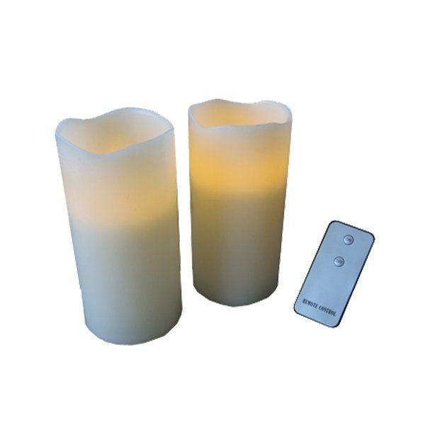 LED Kerzen mit Fernbedienung 2er Set