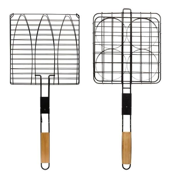 Grilles bambou Sagaform - poisson & hamburger