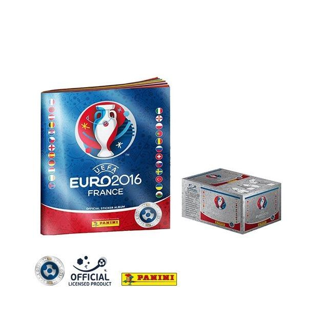 Panini UEFA Euro 2016™ official sticker collection Box 500 Stück mit Sammelalbum