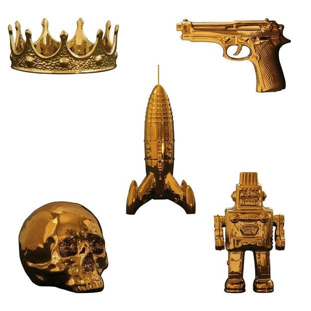 Memorabilia Porzellan gold von Seletti