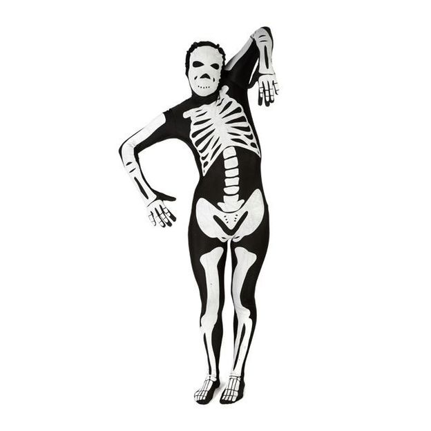 Morphsuit Skelett Kostüm