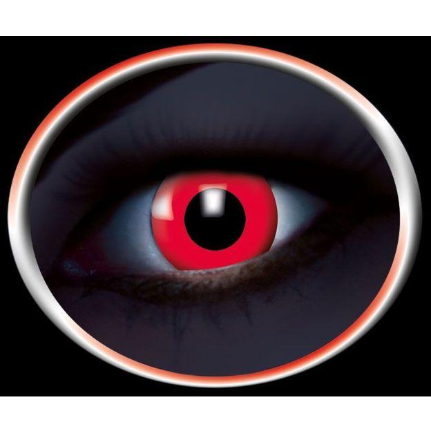 Lentilles fantaisie UV rouges