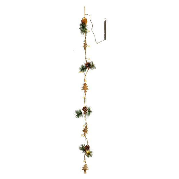Dekorationskette Naja inkl. Beleuchtung Rentier, Stern oder Tannenbaum