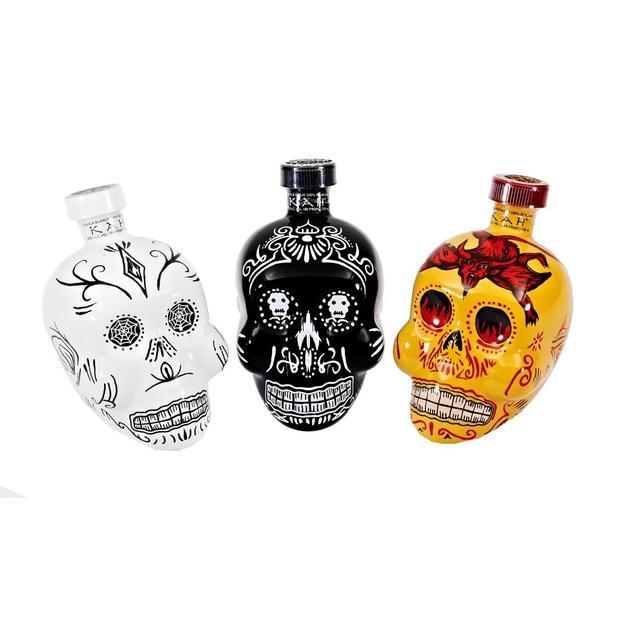 KAH, Tequila, 750ml, im Totenkopf Design
