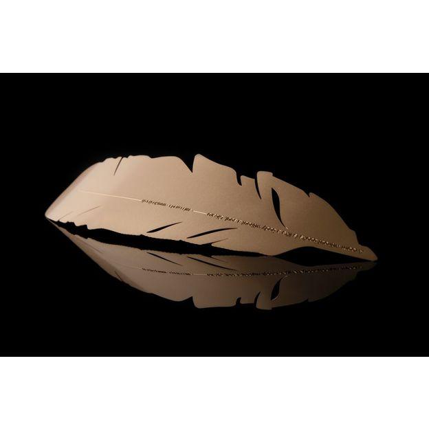 Plume marque page en métal