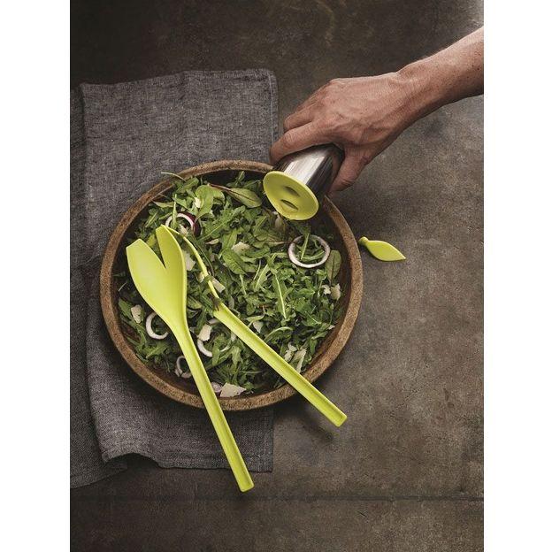 Salatbesteck-Set Tulip weiss/grün